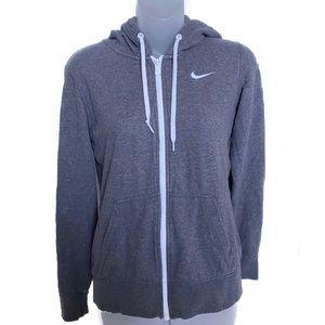 Nike Grey Zip-Up Hoodie